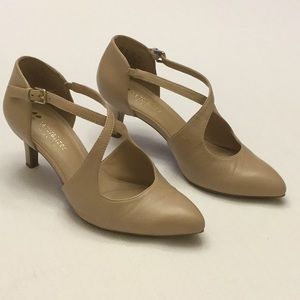Naturalizer N5 Contour Beige Leather Heel